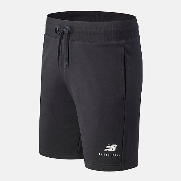 New Balance NB Basketball Blacktop Short, MS03587BK