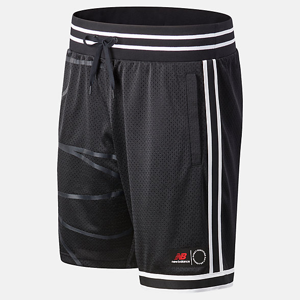 New Balance NB Basketball Blacktop Mesh Short, MS03590BK