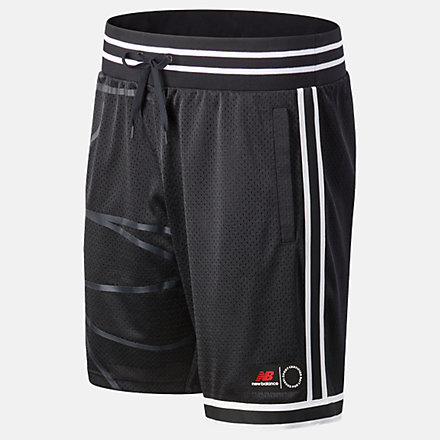 New Balance NB Basketball Blacktop Mesh Short, MS03590BK image number null