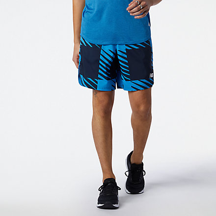 New Balance Printed Fast Flight 2 in 1 7 inch Short, MS11245HLU image number null