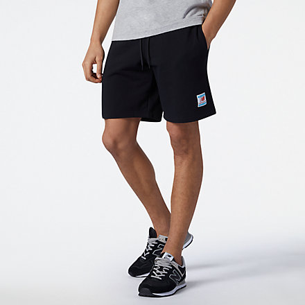 NB NB Essentials Fleece Short, MS11502BK image number null