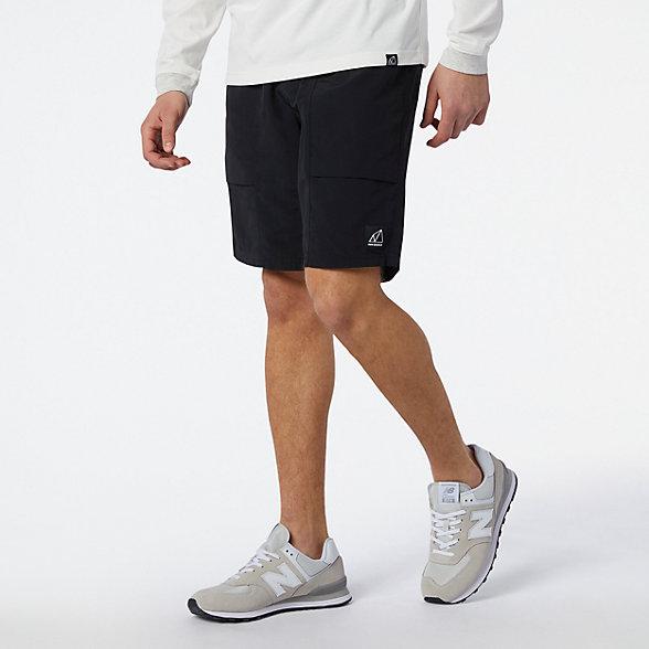 New Balance 男款拼接休闲短裤, MS11580BK