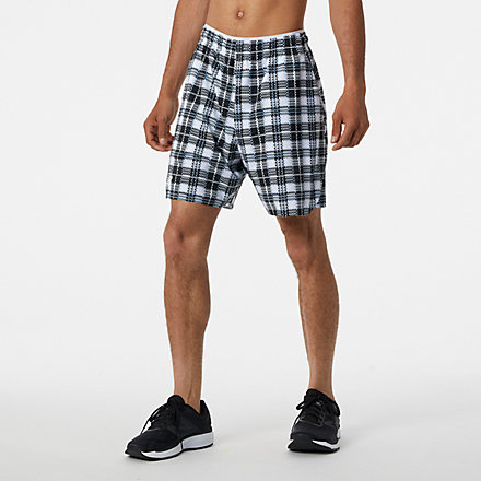 New Balance 7 In Printed Tournament Short, MS13404WK image number null