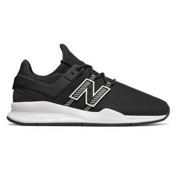 New Balance 247 Deconstructed, Black with White
