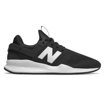 New Balance 247, Black with White Munsell