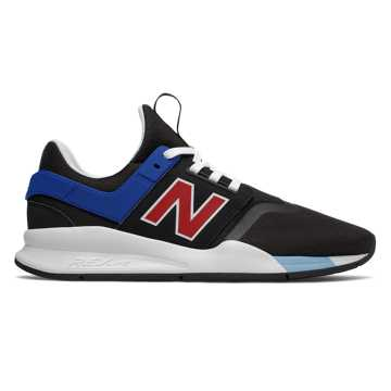 New Balance 247 Deconstructed, Black with Team Red