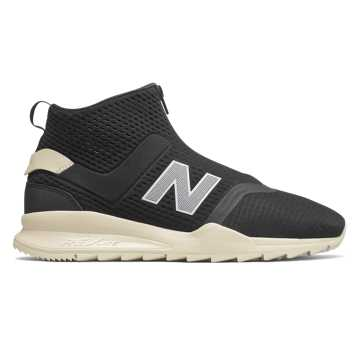 New Balance 247 Mid, Black with Bone