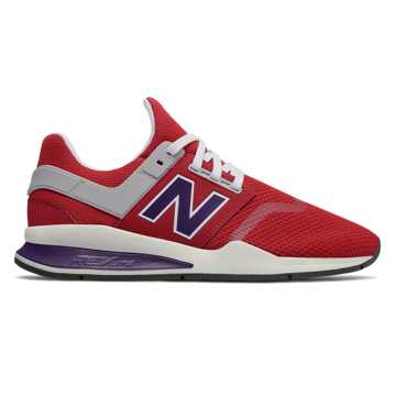 New Balance 247, Tango Red with Parachute Purple