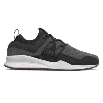 New Balance 247 Trace Fiber, Black with Dark Current