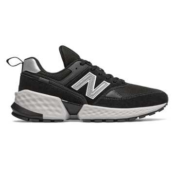New Balance 574 Sport, Black with Silver Metallic