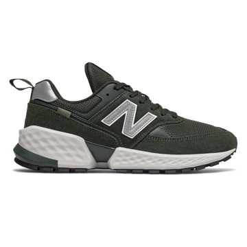 New Balance 574 Sport, Rifle Green with Silver Metallic