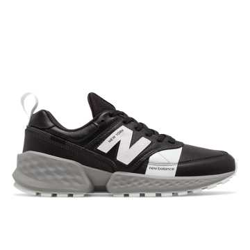 New Balance 574 Sport Flight Path, Black with Munsell White