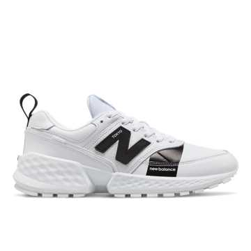 New Balance 574 Sport Flight Path, Munsell White with Black