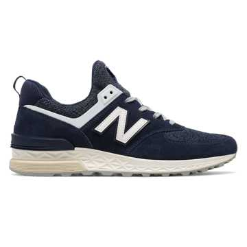 New Balance 574 Sport, Navy with White
