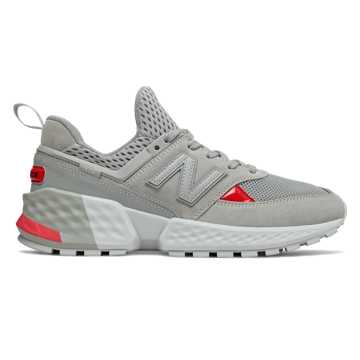 info for d47d3 71616 New Balance 574 Sport, Rain Cloud with Energy Red