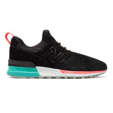 New Balance 574 Sport, Black with Tidepool