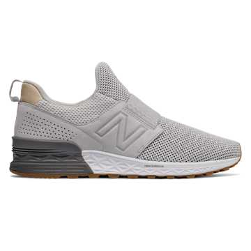 New Balance Slip-On 574 Sport Decon, Castlerock with Silver