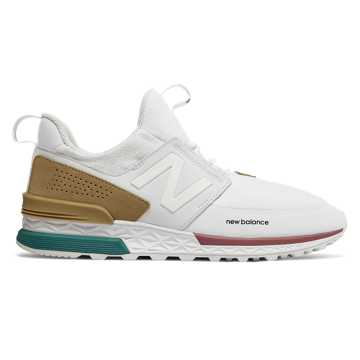 New Balance 574 Sport, White with Hemp