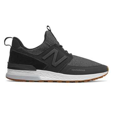 New Balance 574 Sport, Black with Magnet
