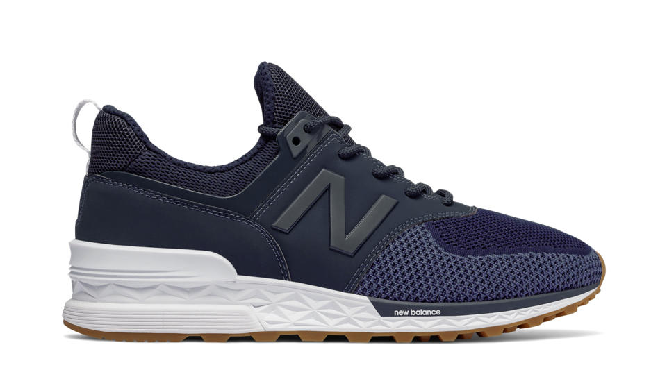 blue new balance 574 sport