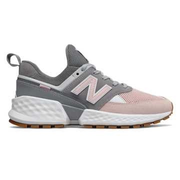 New Balance 574 Sport, Gunmetal with Oyster Pink