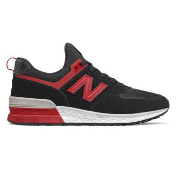 New Balance 574 Sport LFC, Black with Red