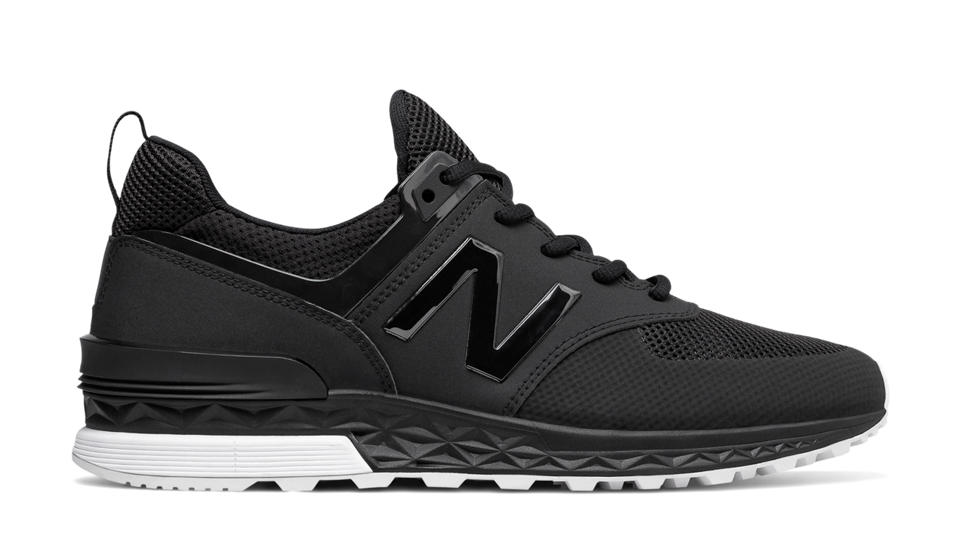 new balance 574 sport black and white