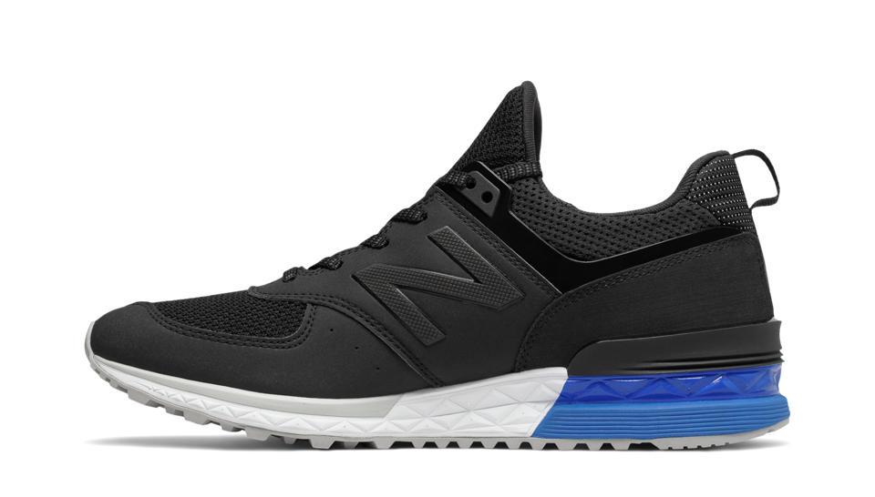 new balance 574 sport black blue