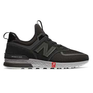 New Balance 574 Sport, Black with Silver