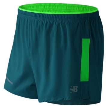 New Balance Impact 3 Inch Split Short, Supercell with Vivid Cactus