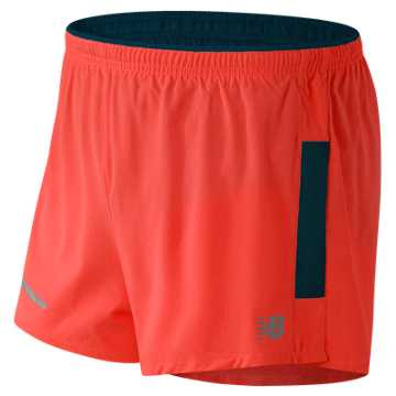 New Balance Impact 3 Inch Split Short, Sunrise with Supercell