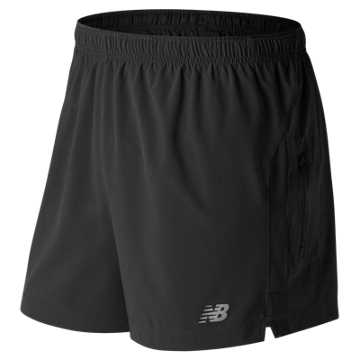 New Balance Impact 5 Inch Track Short, Black
