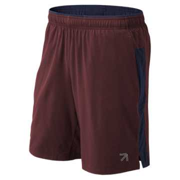 New Balance J. Crew 9 Inch 2 in 1 Short, Chocolate Cherry