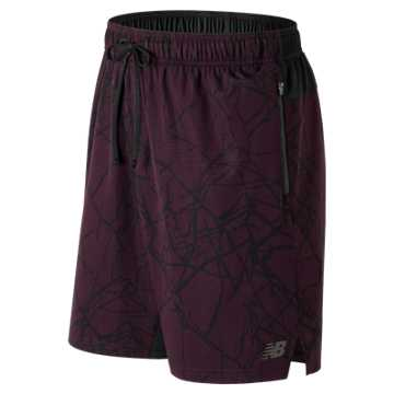 New Balance Max Intensity Short, Black Rose with Fractured Ice