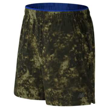 New Balance 2 in 1 Graphic Short, Military Dark Triumph with Heat Zone Camo