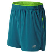 New Balance Impact 7 Inch Short, Moroccan Blue with Energy Lime