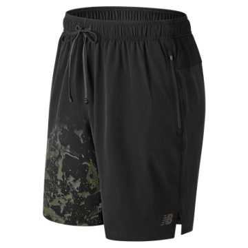 New Balance Printed Max Intensity Short, Black Multi