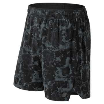 New Balance Printed Transform 2 In 1 Short, Black Multi