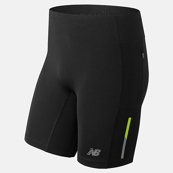 New Balance Fitted 8 Inch Impact Short, MS81227BK