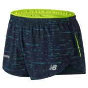 New Balance Printed Impact Split 3 Inch Short, North Sea
