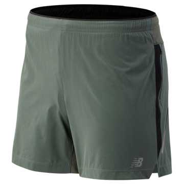 New Balance Impact 5 Inch Short, Slate Green
