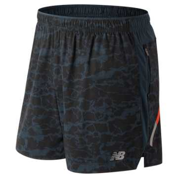 New Balance Printed Impact 5 Inch Short, Galaxy