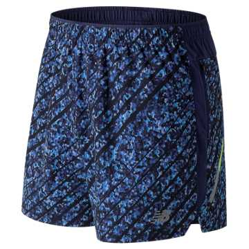 New Balance NYC Marathon Printed Impact 5 Inch Short, Techtonic Blue