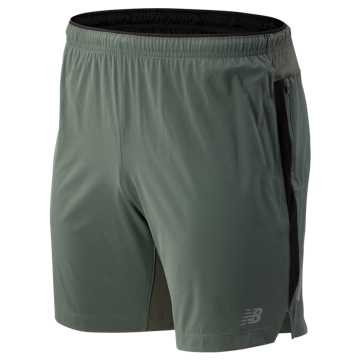 New Balance Impact 7 Inch Short, Slate Green