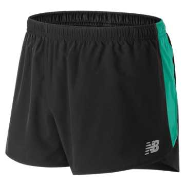 New Balance Accelerate 3 Inch Split Short, Black with Tidepool