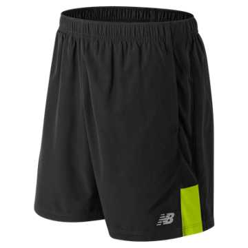 New Balance Accelerate 7 Inch Short, Black with Hi-Lite