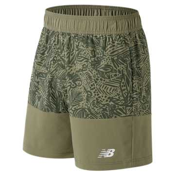 New Balance Essentials Boardie Printed Short, Covert Green