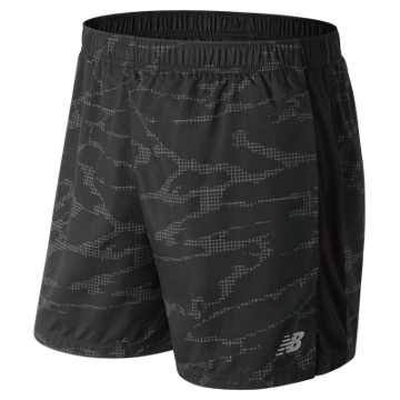 New Balance Printed Accelerate 5 Inch Short, Black Multi