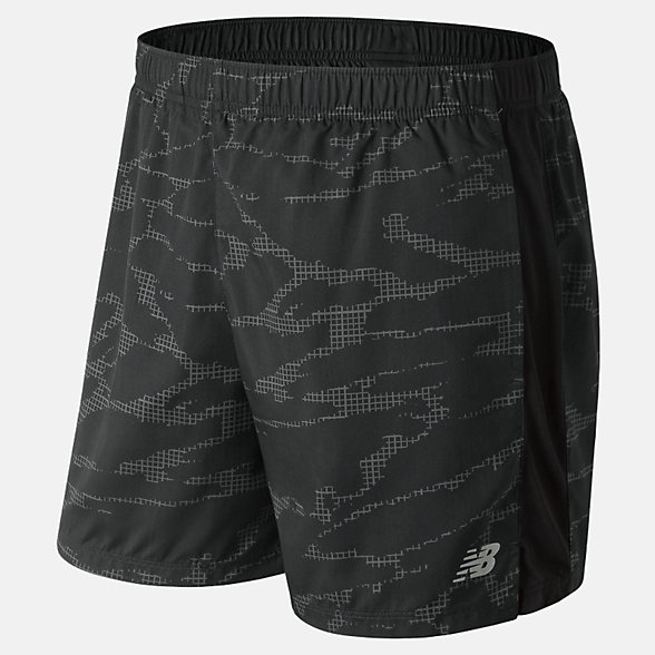 New Balance Printed Accelerate 5 Inch Short, MS83179BM