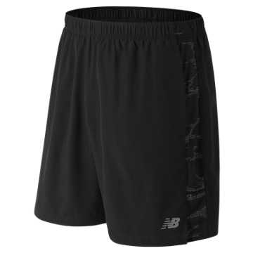 New Balance Printed Accelerate 7 Inch Short, Black Multi